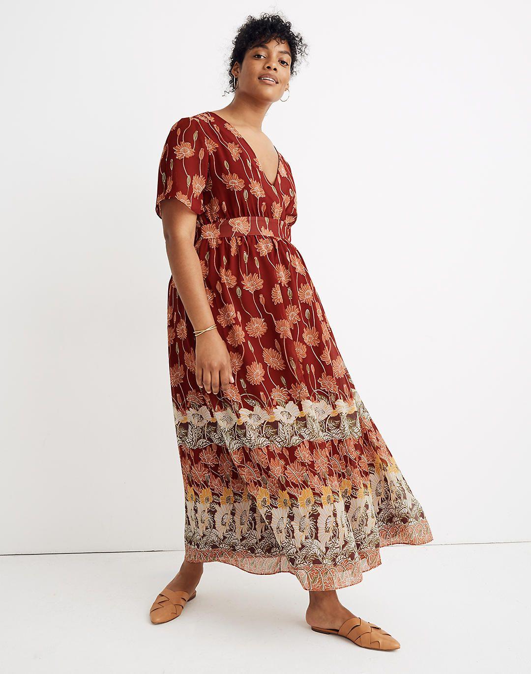 Tulip Sleeve Maxi Dress In Tall Sunflowers Maxi Dress With Sleeves Maxi Dress Plus Size Spring Dresses [ 1372 x 1080 Pixel ]