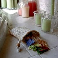 Om! Sisal Exfoliator Soap Mitt.  Perfect to cleanse and exfoliate www.bearessence.net