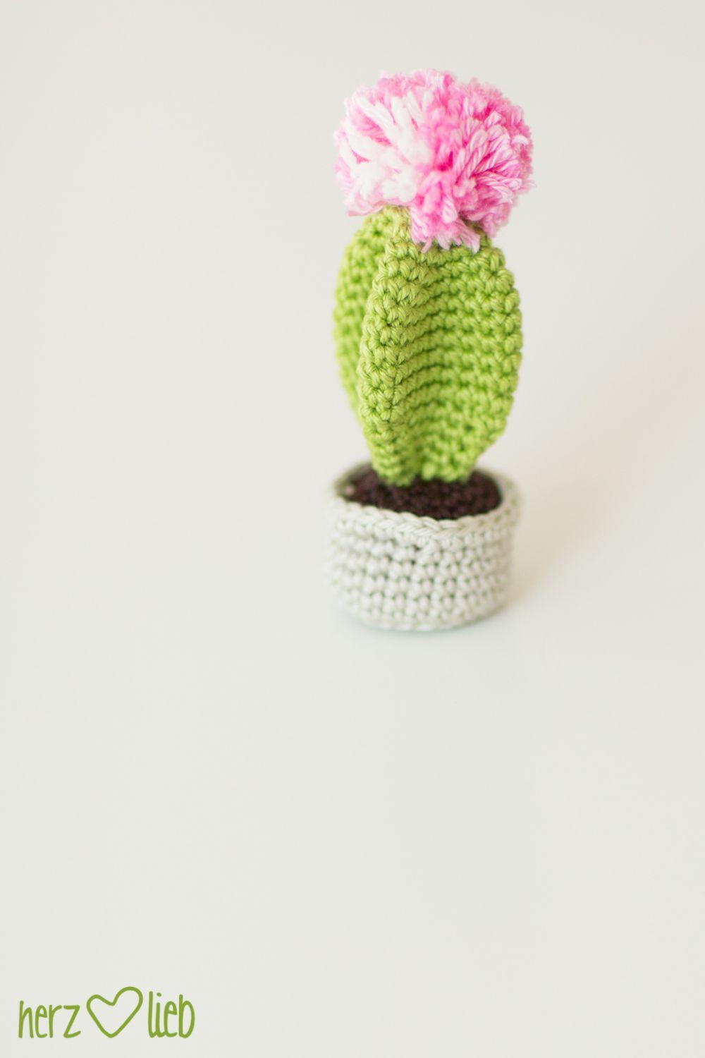 One Pin A Week 7 Gehäkelter Kaktus Herz Lieb Häkeln