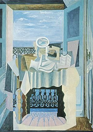 Open Window at St. Raphael 1919 By Pablo Picasso -