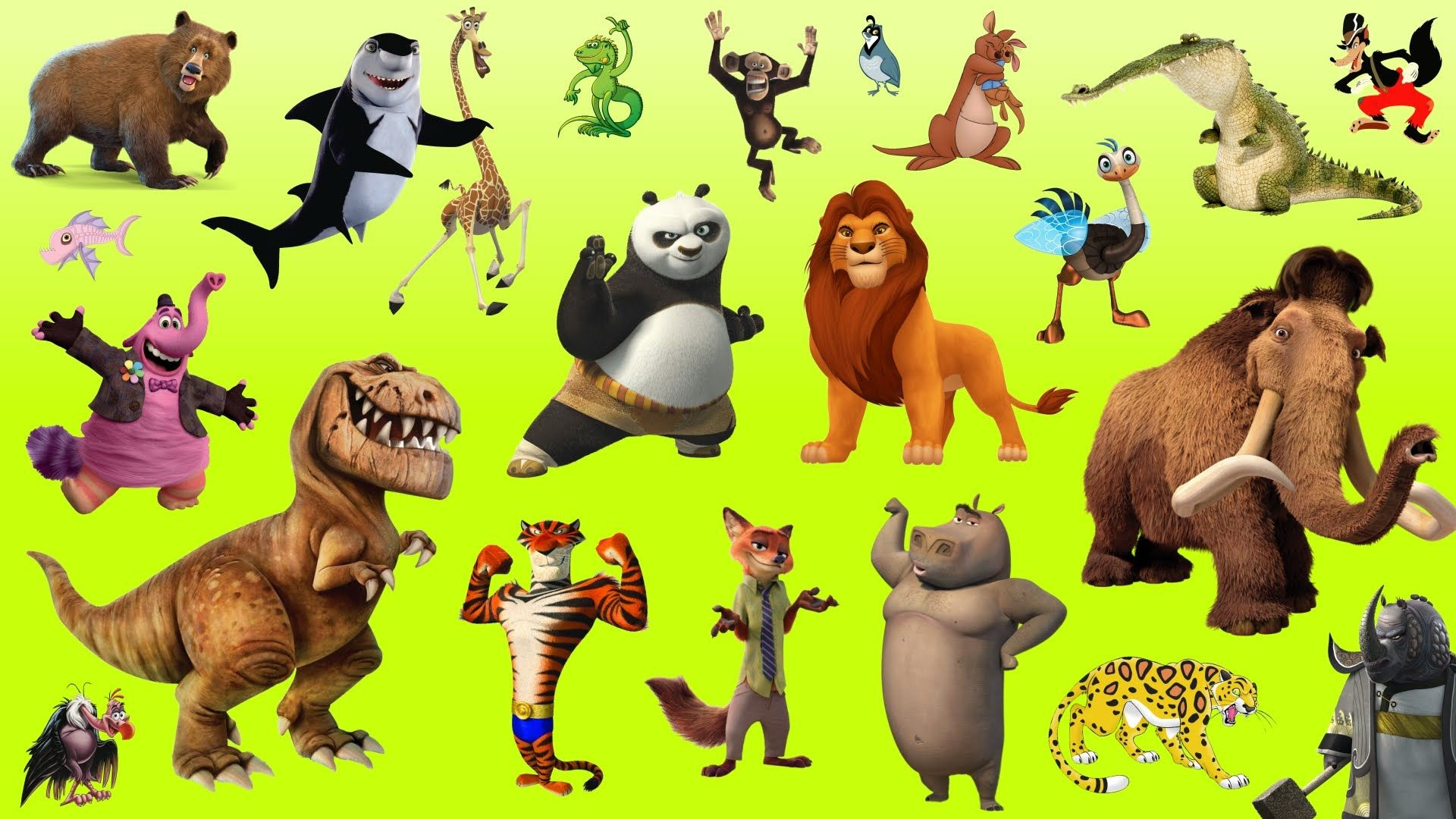 Learn Alphabet with Cartoon & Real Animals for children