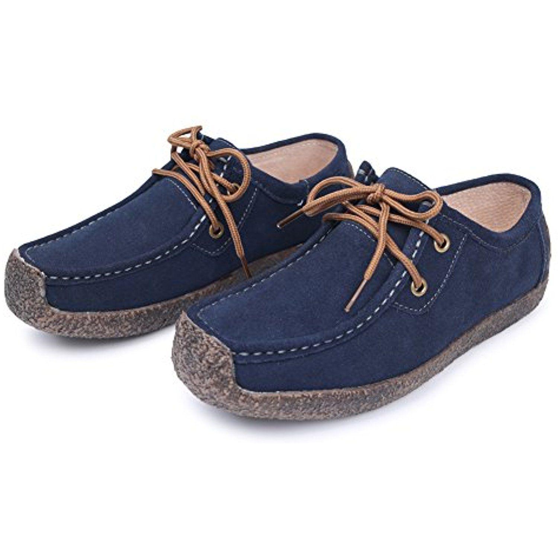 Suède Chaussures De Marche Plates Occasionnels Yq5fG
