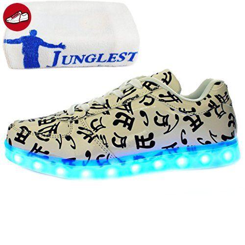 [Present:kleines Handtuch]c25 EU 42, weise Damen Leuchtend Winter bunt schuhe laufende Sport USB und Schuhe Leucht LED Aufladen Freizeitschuhe JUNGLEST® Paare