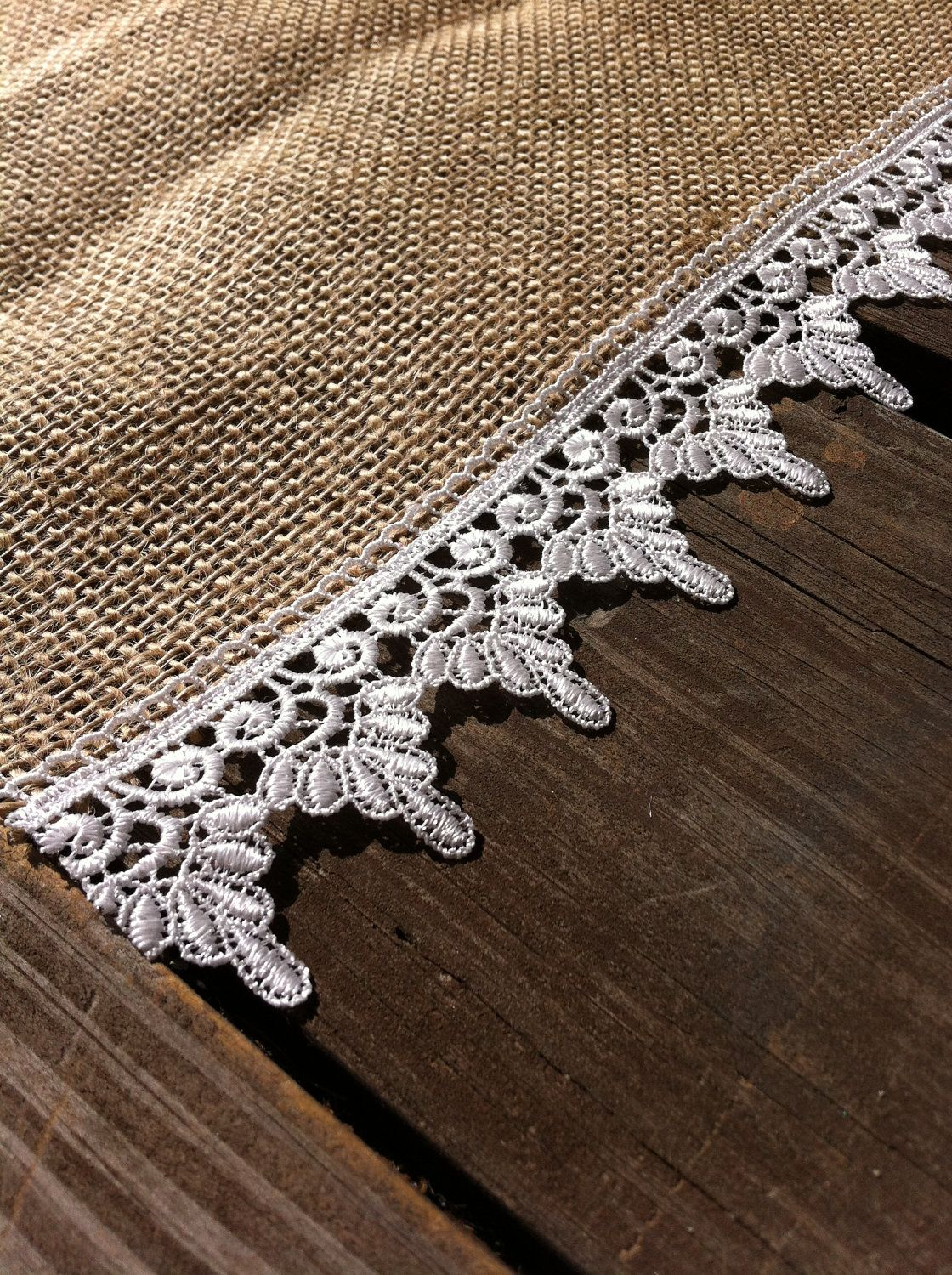 Knitted wedding decorations  Burlap and Lace Placemats Country Wedding Burlap and Lace Tableware