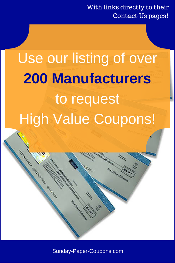 Free Coupons By Mail How To Get Coupons In The Mail Free Coupons By Mail Coupons By Mail Manufacturer Coupons