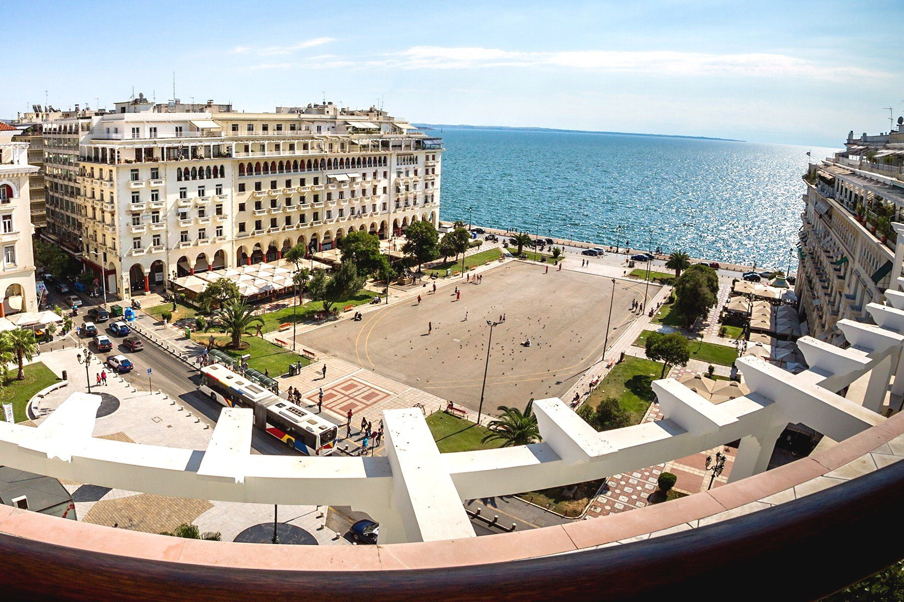 1fbd3cc6f Aerial view of Thessaloniki city center | Greece | Thessaloniki ...