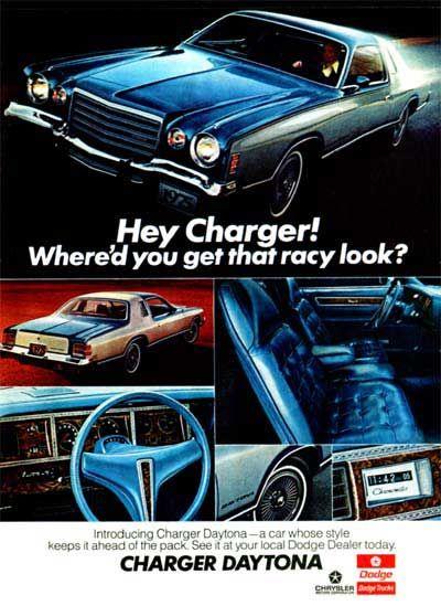 1975 Dodge Charger Daytona Original Vintage Advertisement Photographed In Vivid Color With Interior Views Anuncios De Carros Carros Look