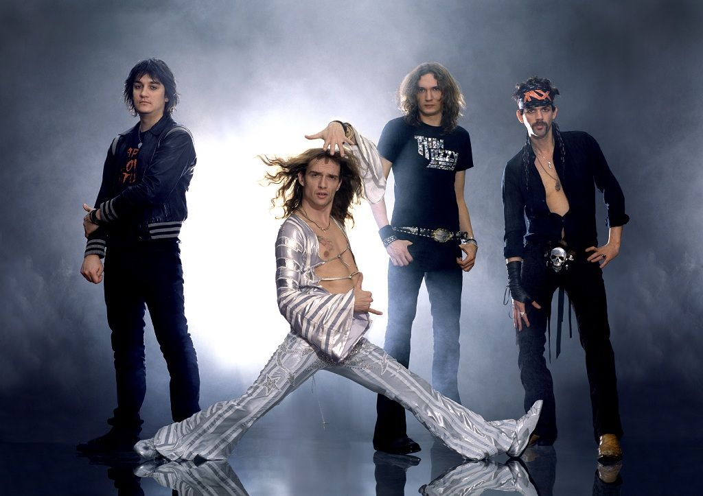 justin hawkins of 2000s glam rock band the darkness is selling some of his flamboyant stage. Black Bedroom Furniture Sets. Home Design Ideas