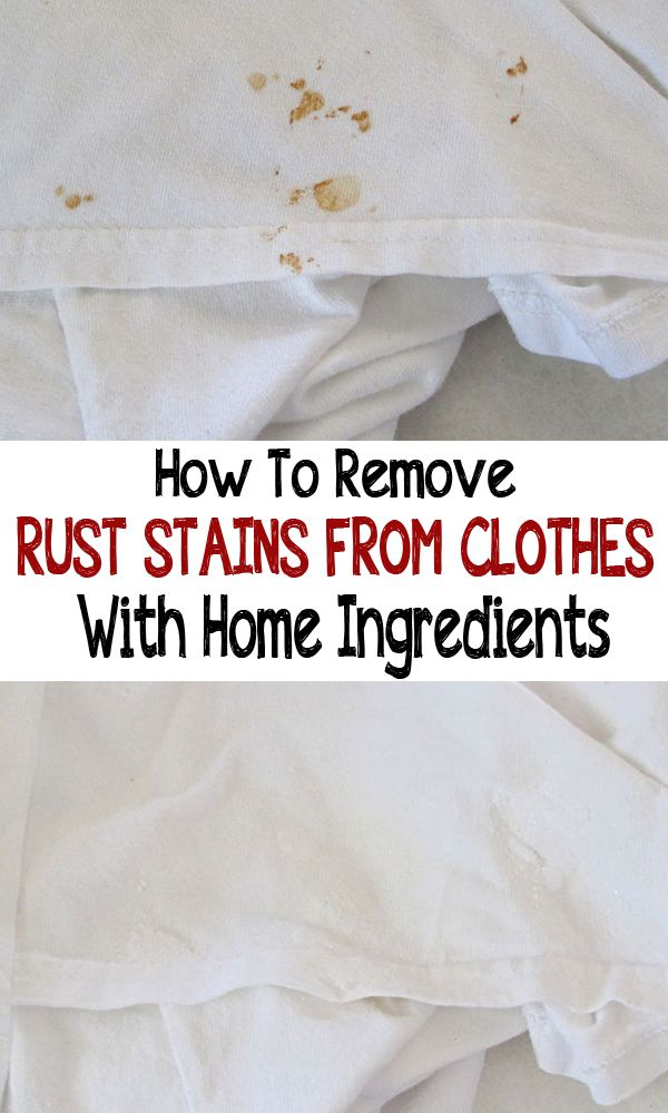 How To Remove Rust Stains From Clothes With Home Ingredients