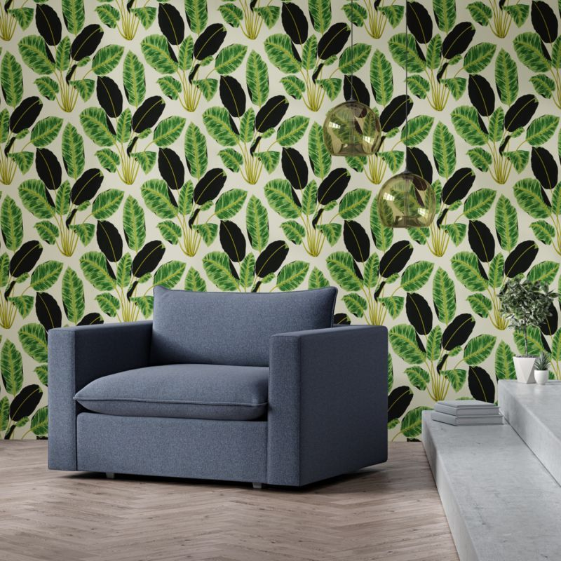 Tempaper Hojas Cubanas Removable Wallpaper Reviews Crate And Barrel In 2021 Removable Wallpaper Crate And Barrel Leaf Wallpaper