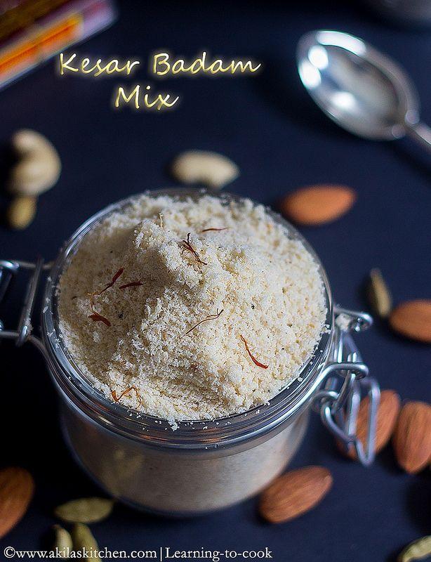 How to make kesar badam milk powder at home