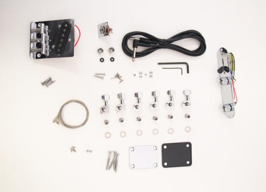 DIY Electric Guitar Kit Burl Ash TL Style Build Your Own Guitar