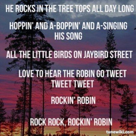 Bobby Day Rockin Robin Lyrics To Live By My Love Song Love