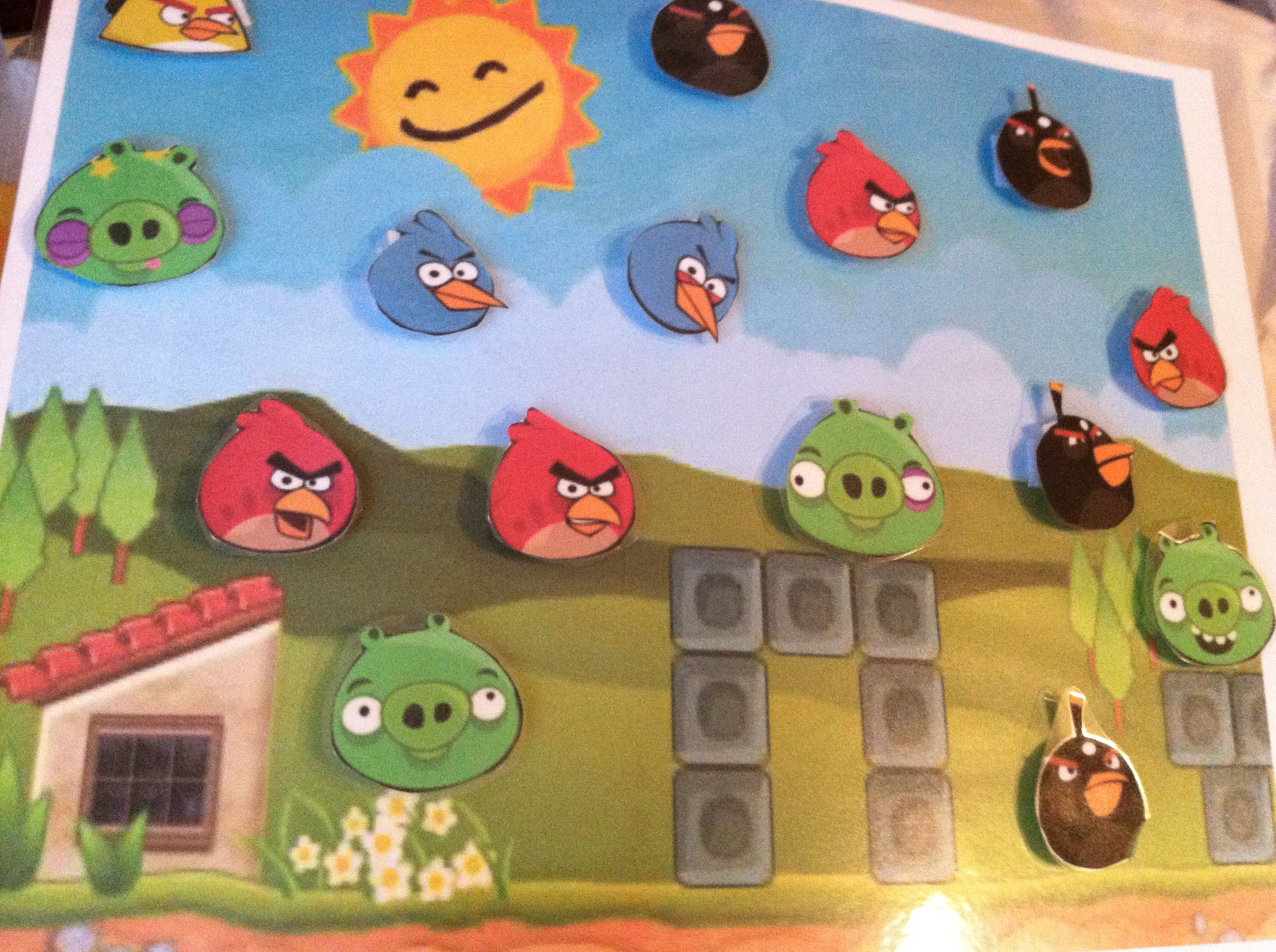 Angry Bird Token Board