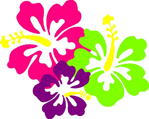 Neon Hibiscus Hi Png 600 482 Pixels Hawaiian Tattoo Flower Clipart Free Clip Art