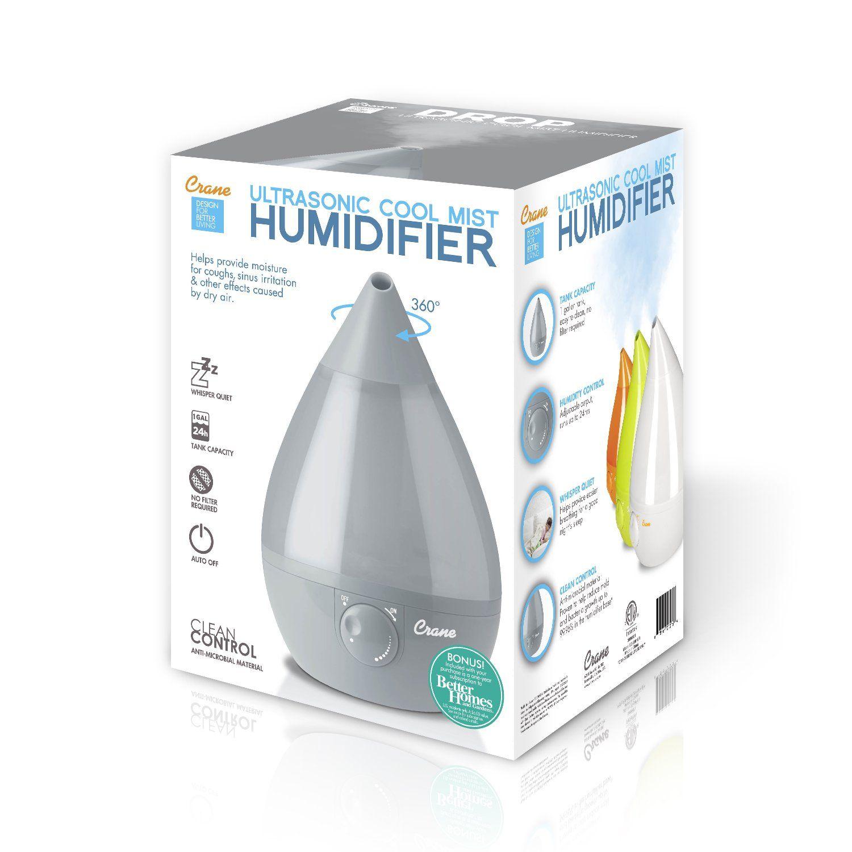 Crane USA Humidifiers Ultrasonic Cool Mist Humidifier
