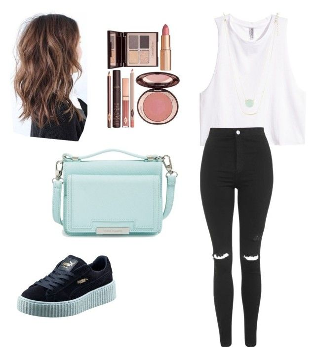 """""""#55"""" by kingsakinga ❤ liked on Polyvore featuring H&M, Topshop, Puma, Vince Camuto, Charlotte Tilbury and Lane Bryant"""
