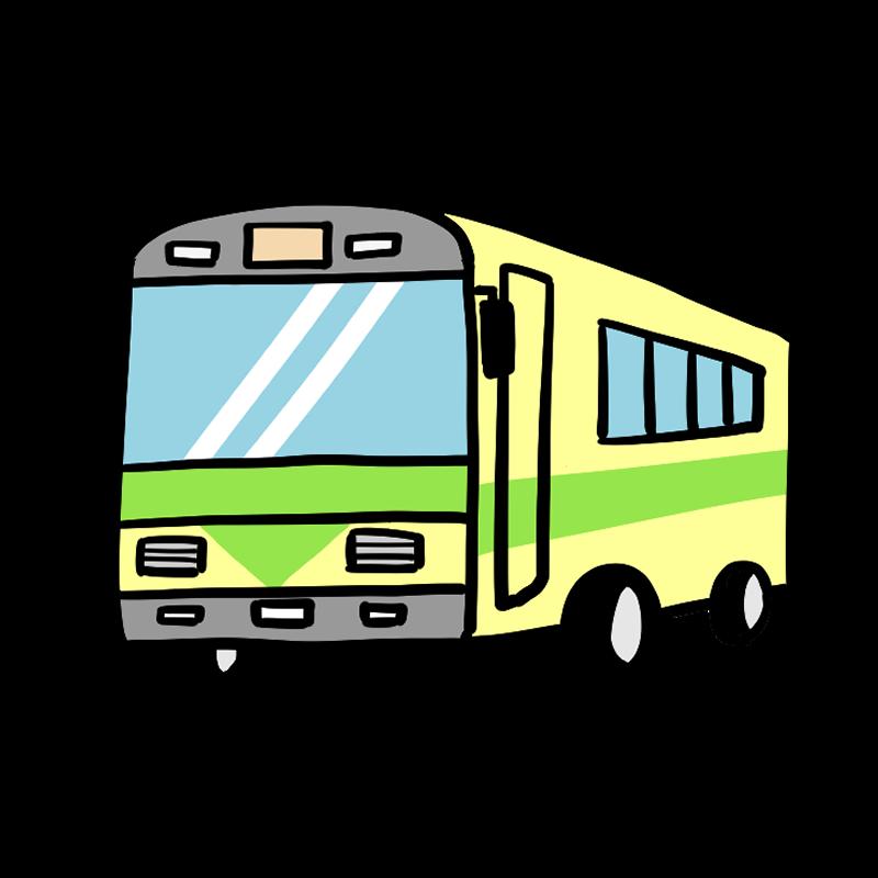 路線バスのイラスト 乗り物 イラスト 男の子 イラスト