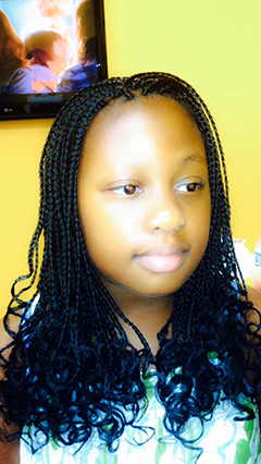 box braids extensions with curly ends great look for a