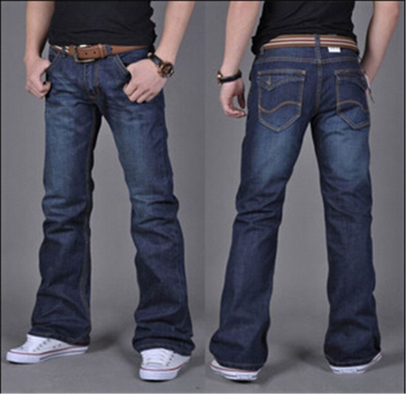 High Quality New Winter Male Casual Business Flare Jeans Mens ...