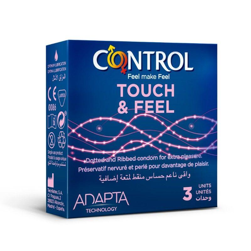 عازل طبي كنترول مضلع ومحبب Touch Feel ثلاث قطع Book Cover Feelings Condoms