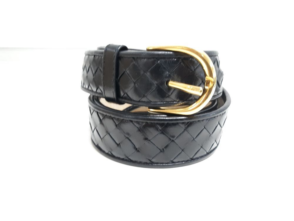 75a827103e9 Bottega Veneta Black Leather Belt SZ 34 EUC  fashion  clothing  shoes   accessories  womensaccessories  belts (ebay link)