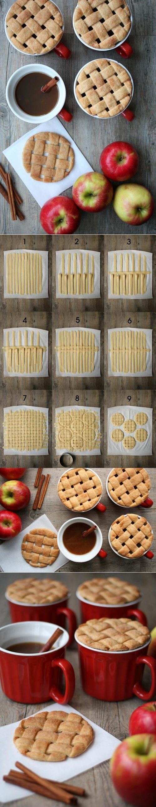 DIY Pie Mug Toppers DIY Projects / UsefulDIY.com