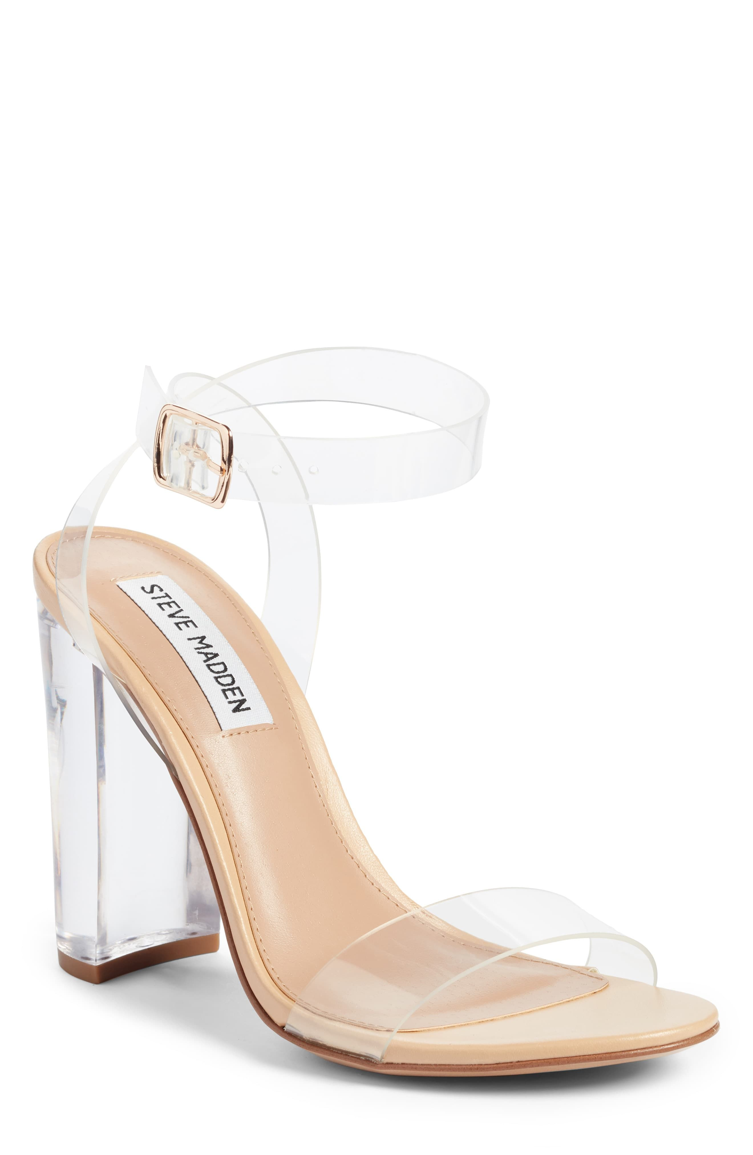 Clear strap heels, Clear heels outfit