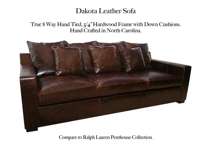 Dakota Leather Sofa By Casco Bay Furniture   A Premier Leather Furniture  Collection Superbly Made By