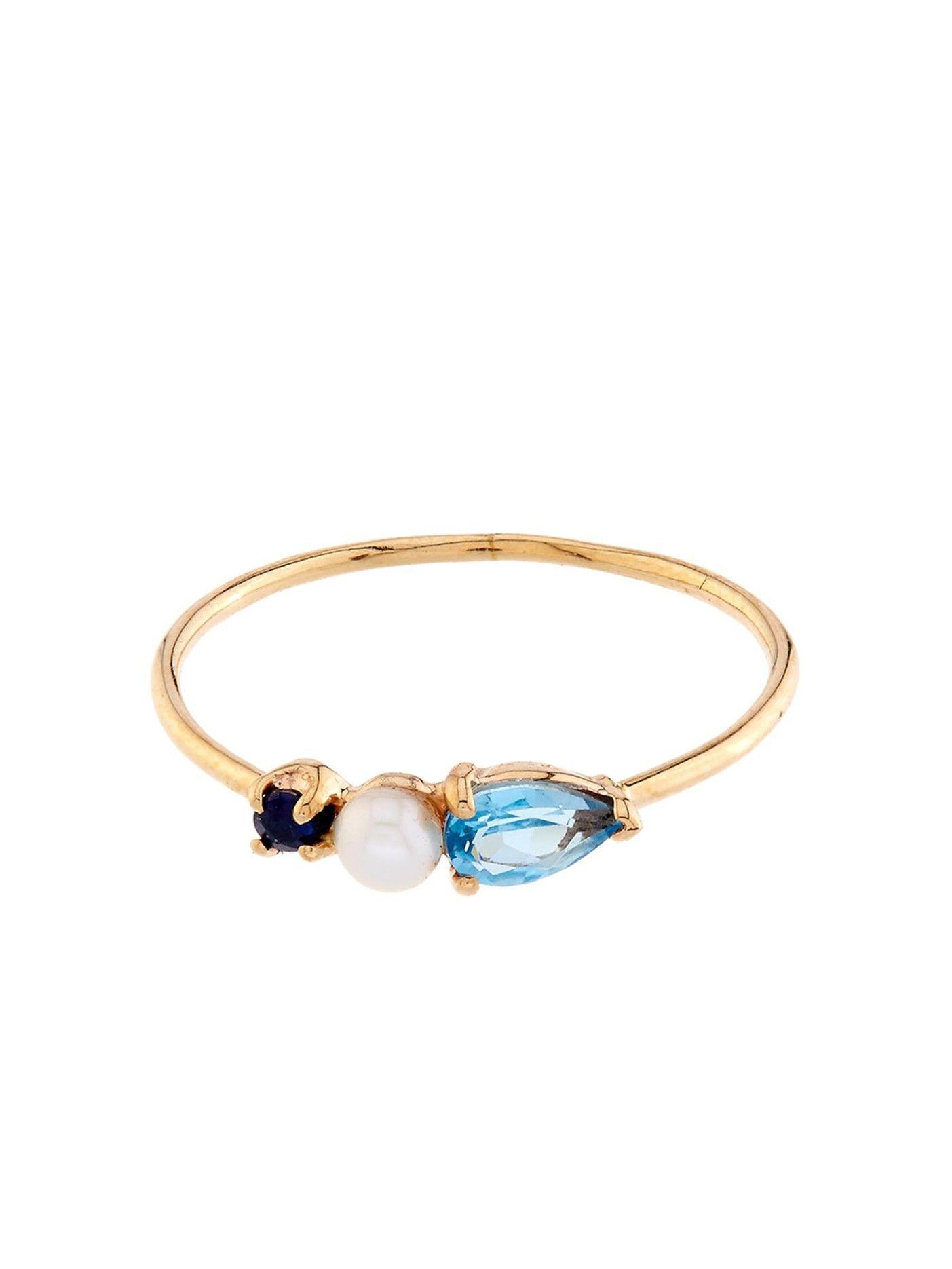 Loren Stewart Sapphire & yellow-gold ring Mt5zXWfh