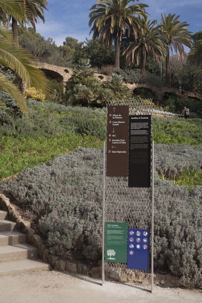 Señalética Parque Güell,   #Señalética, #directoris, #directorios, #Essapunt