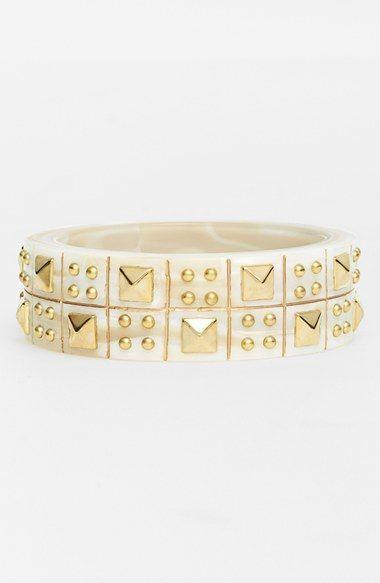 Women's L. Erickson 'Sonya' Studded Bangle Bracelet - Alba