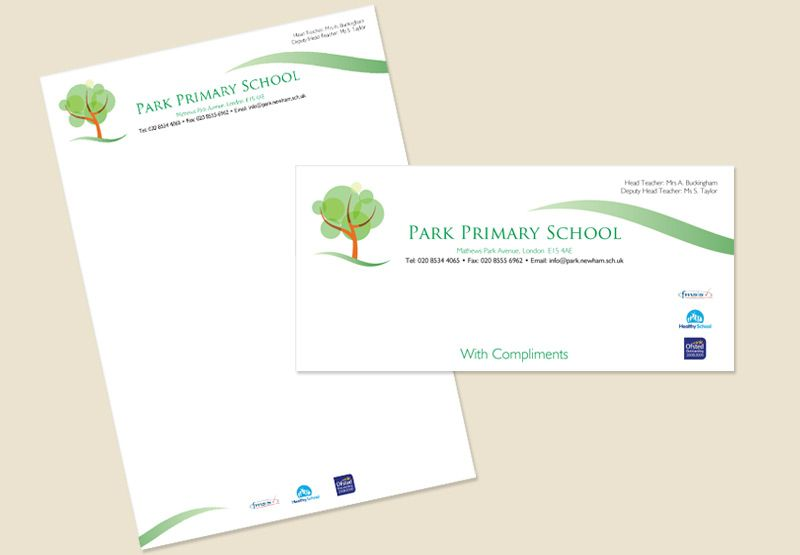 Learning Center  Elementary School Business Card  Letterhead