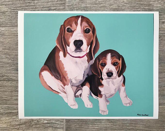 Beagle Print Beagle Art Beagle Painting Beagle Beagle