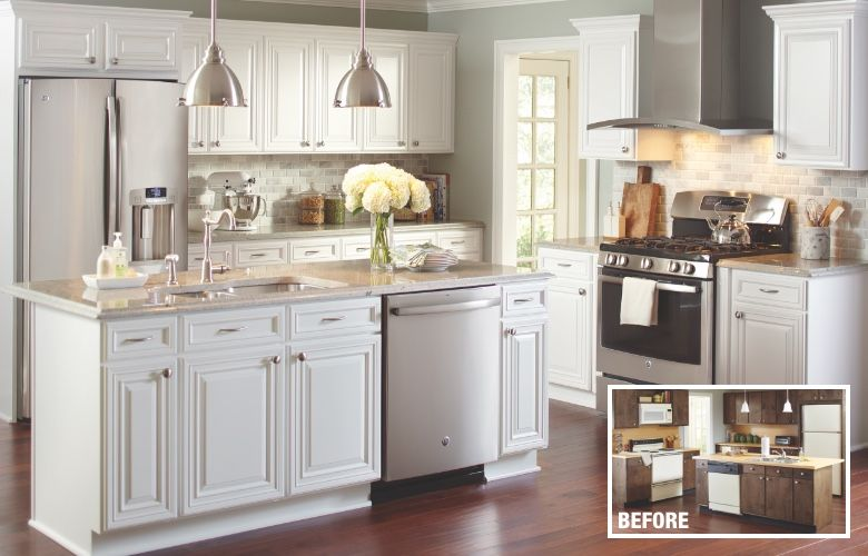 Cost To Reface Cabinets The Home Depot Cost Of Kitchen Cabinets Refacing Kitchen Cabinets Cabinet Refacing Cost