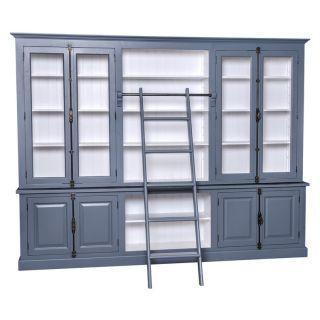 Arbeitszimmermöbel großer brüoschrank bücherregal mit leiter vitrine und schaukasten