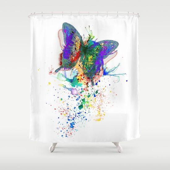 Butterfly splatter Shower Curtain