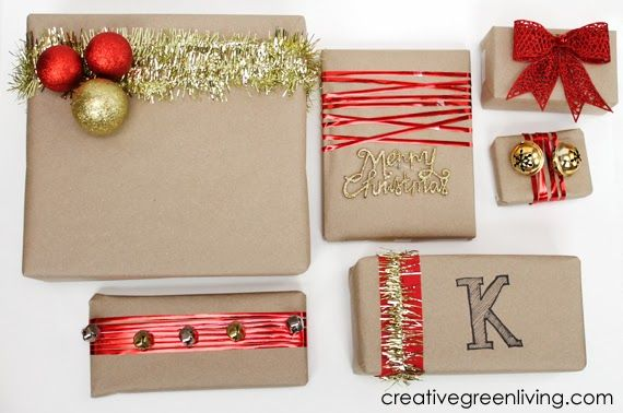 Elegant Dollar Store Gift Wrap Ideas Red And Gold Accents