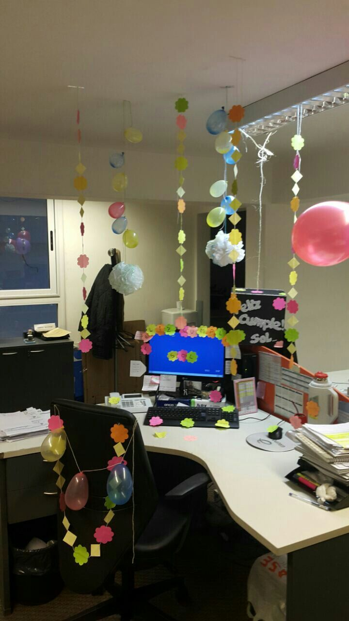 Cumpleaños decoracion oficina cumpleaños deco oficina Pinterest