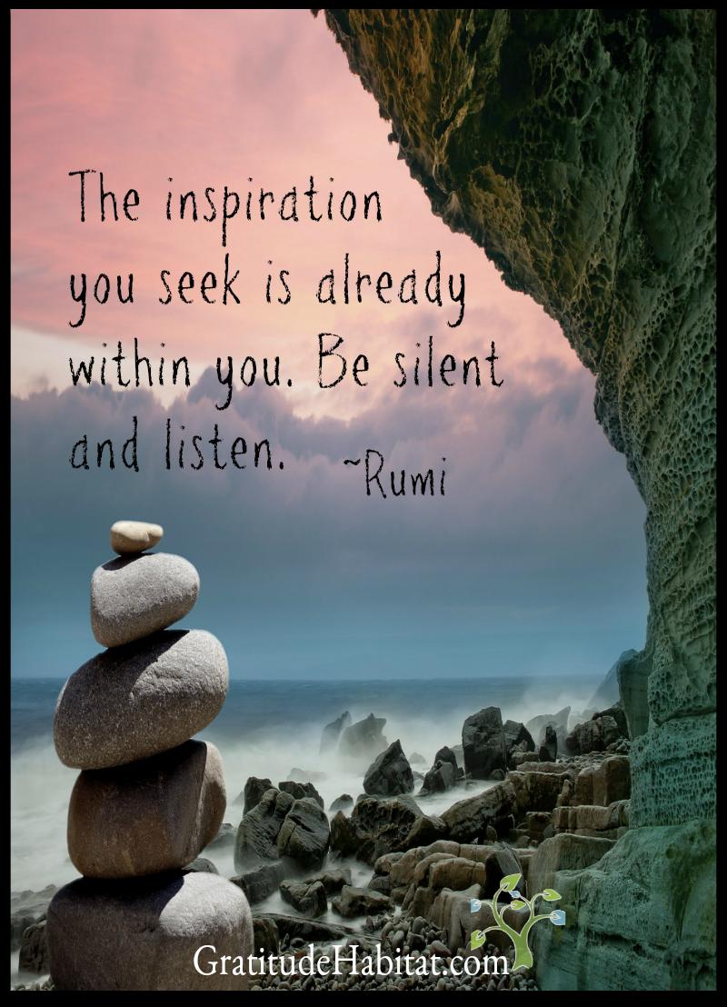 Spiritual Quotes Be Silent And Listenvisit Us At Www.gratitudehabitat  Quotes .