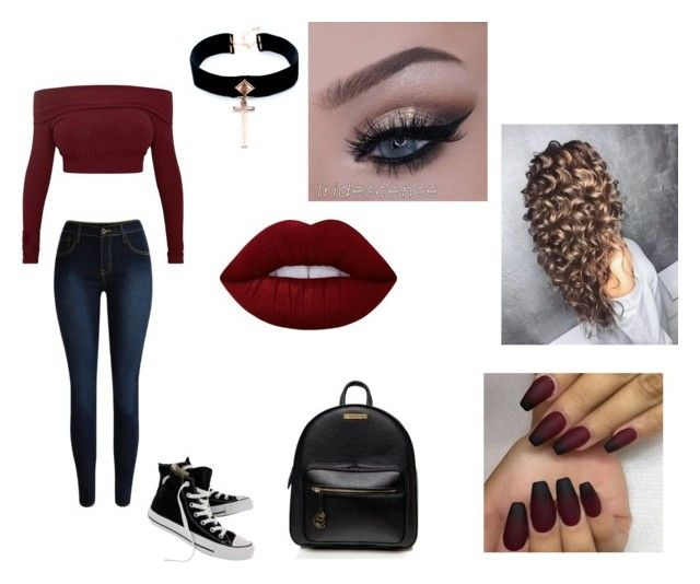 """My appearance doesn't define me."" by xxfallen-outlooksxx on Polyvore featuring Converse, VSA and Lime Crime"