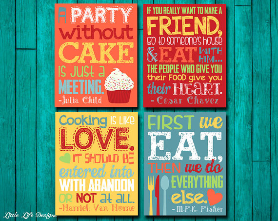 Kitchen decor kitchen wall decor kitchen wall art home - Cute kitchen decorating themes ...