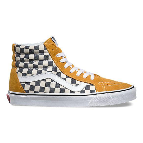 vans sk8 hi retro checkerboard