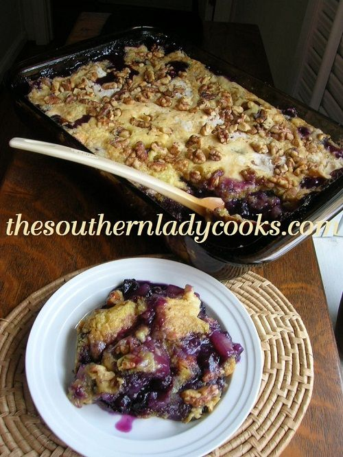 Recipe using yellow cake mix and blueberry pie filling