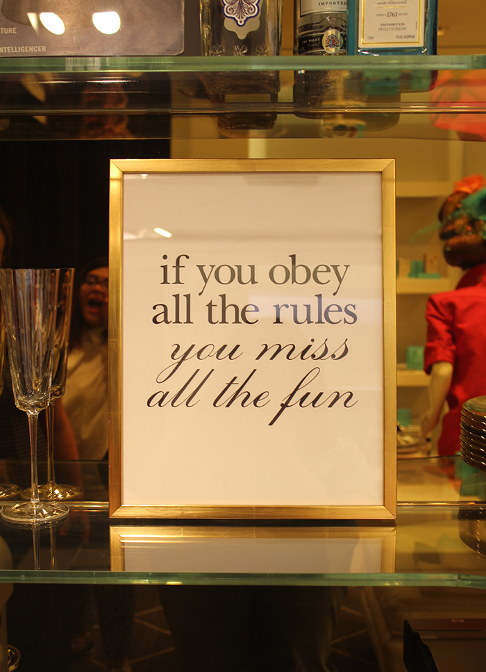 Enough said. {at the Kate Spade flagship on Madison Avenue}