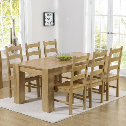Essgruppe Barrow Mit 6 Stuhlen Home Etc Oak Dining Sets Oak