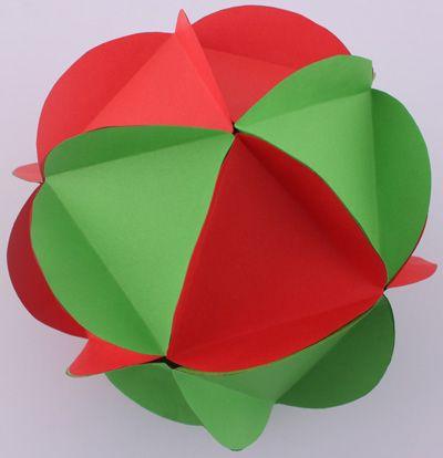 Boule de Noël en papier | Fabriquer deco de noel, Bricolage noël
