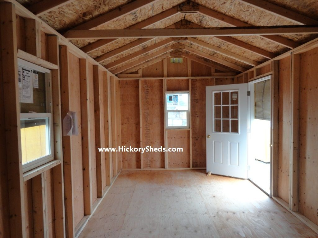 Inside An 12 X20 Old Hickory Sheds Cabin Homesteading