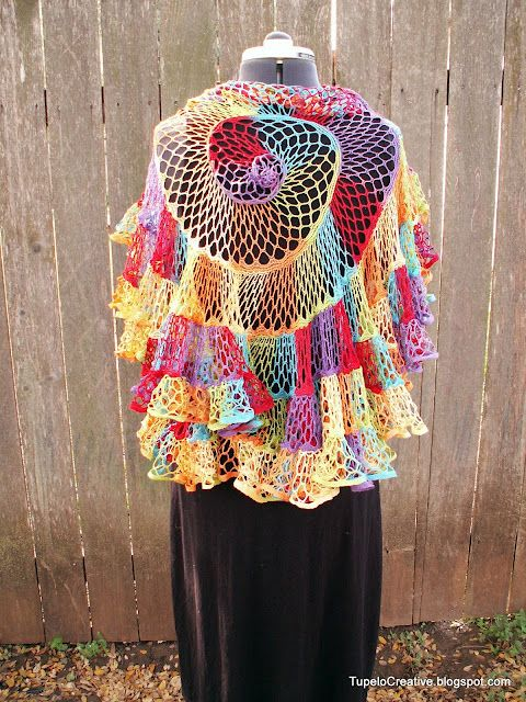 Tupelo Creative: Nautilus Shawl with starbella yarn | Adult Crochet ...