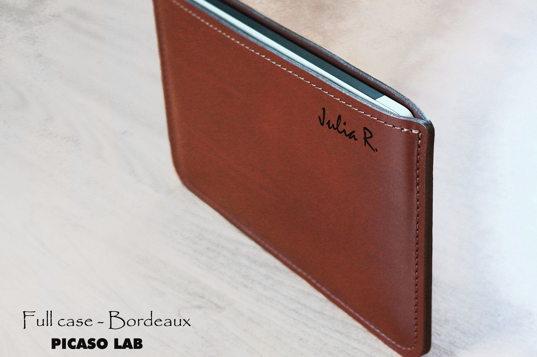 MONOGRAM. NAPA leather Full case for Macbook Pro 13